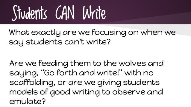 why students can t write