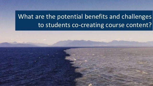 What are the potential benefits and challenges to students co-creating course content?