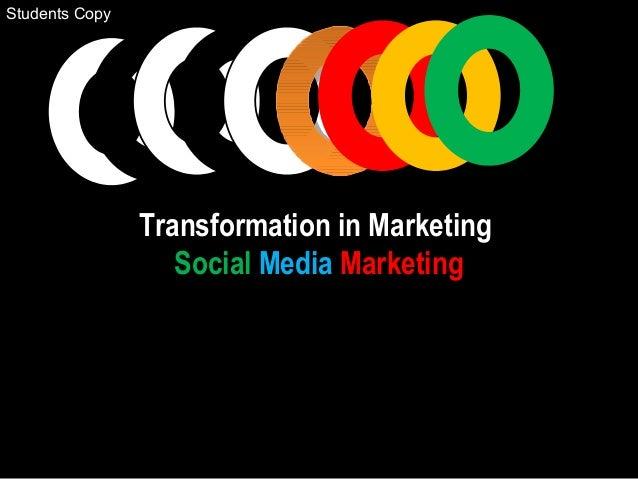 Transformation in Marketing Social Media Marketing Students Copy