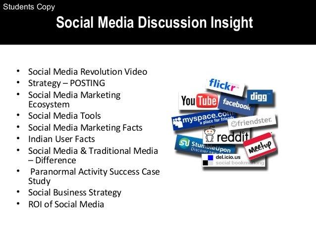 • Social Media Revolution Video • Strategy – POSTING • Social Media Marketing Ecosystem • Social Media Tools • Social Medi...