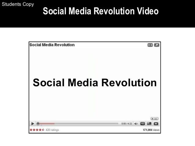 Social Media Revolution Video Social Media Revolution Students Copy