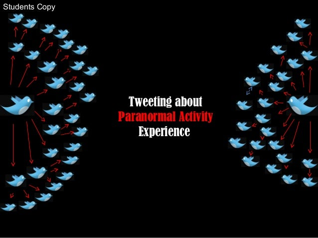 Tweeting about Paranormal Activity Experience Students Copy