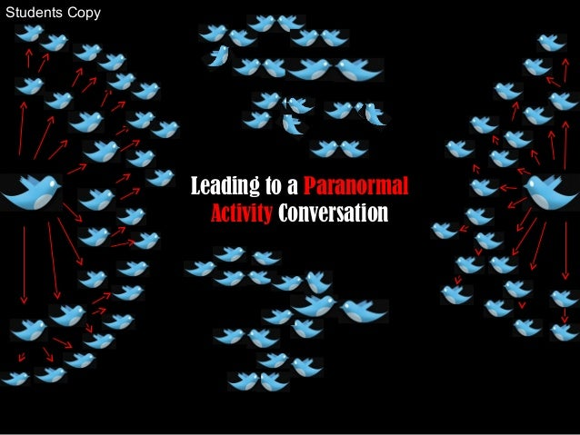 Leading to a Paranormal Activity Conversation Students Copy