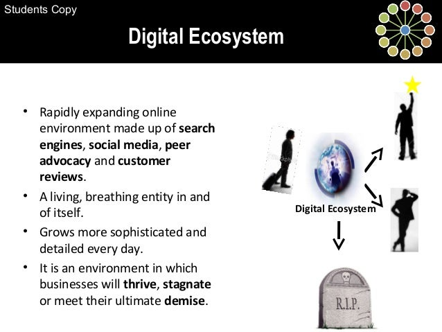 Digital Ecosystem • Rapidly expanding online environment made up of search engines, social media, peer advocacy and custom...