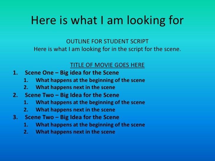 movie outline