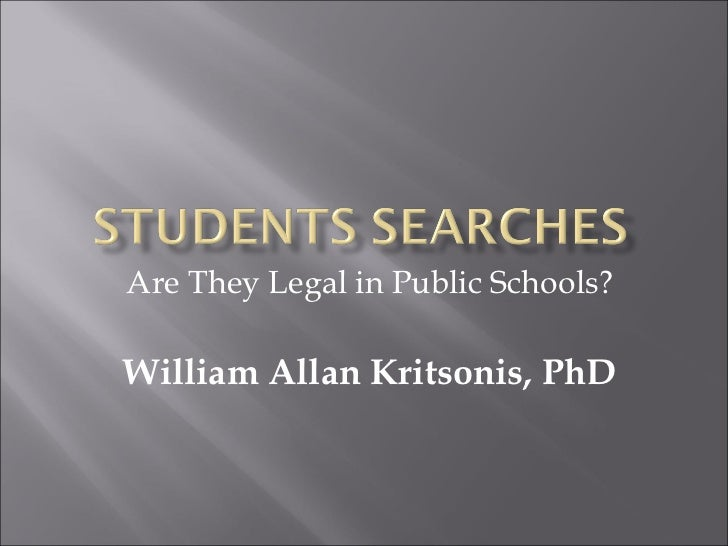 Are They Legal in Public Schools?William Allan Kritsonis, PhD