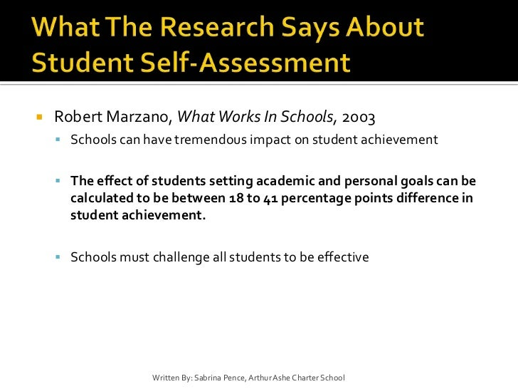 Student Self Assessment And Data Driven Processes With Students