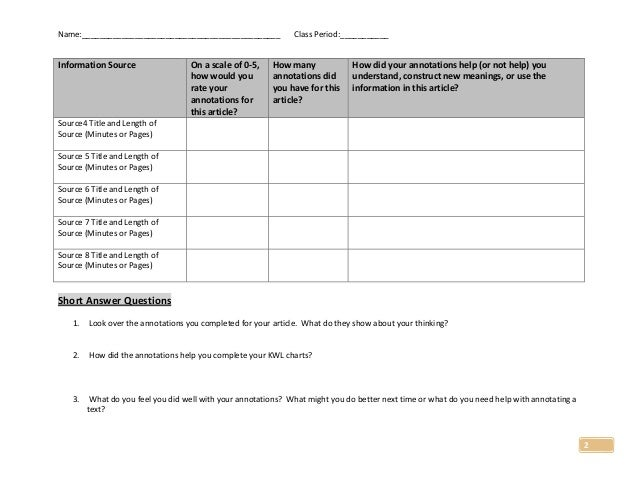 Student SelfAssessment of Annotations October 16 2014 Rust – Student Self Assessment