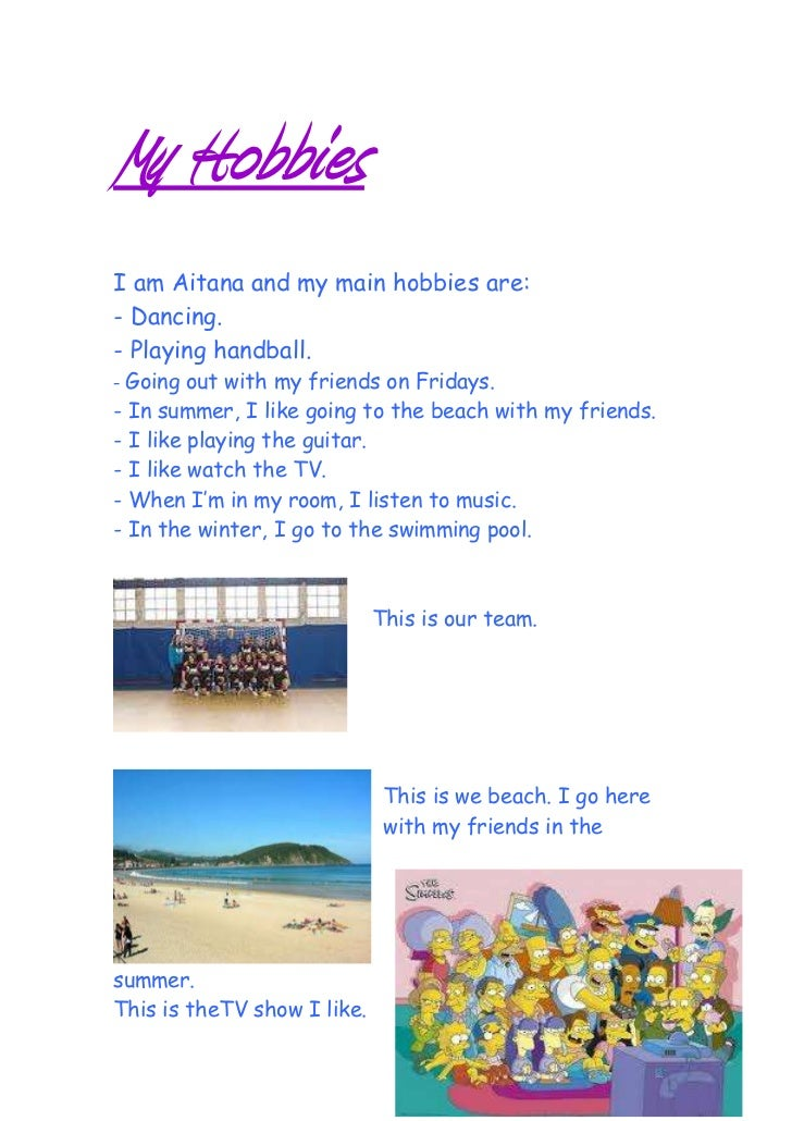 my hobbies html