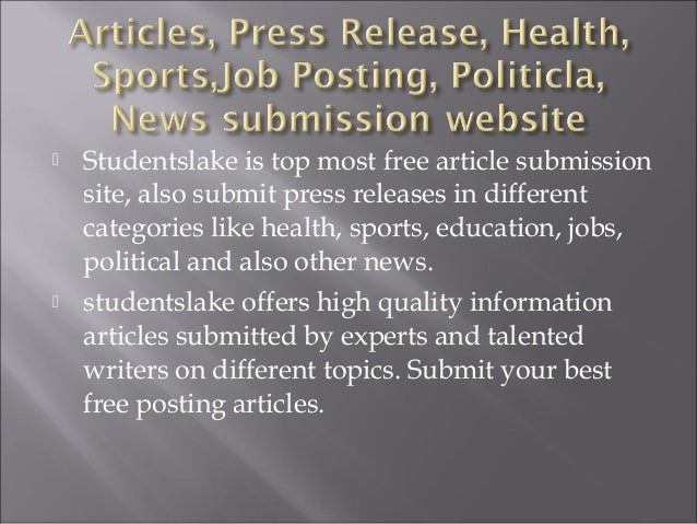 Free Article Submission Websites