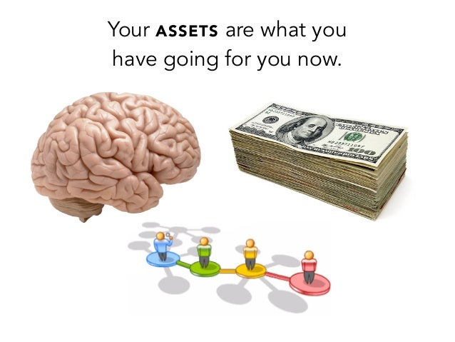 Your ASSETS are what youhave going for you now.