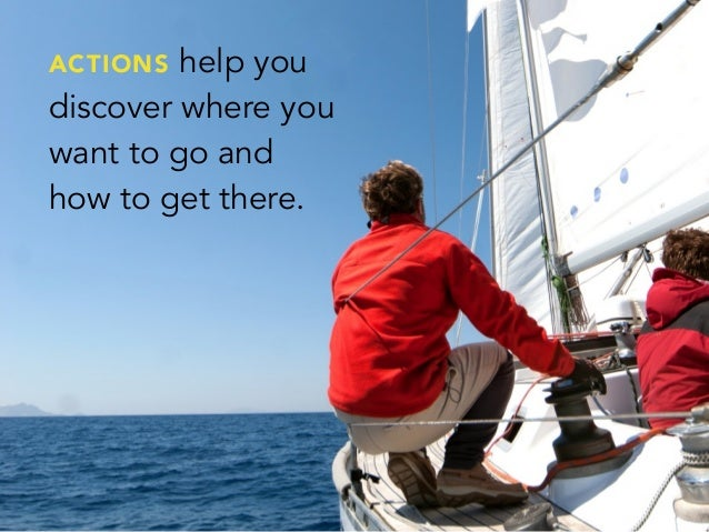 ACTIONS help youdiscover where youwant to go andhow to get there.