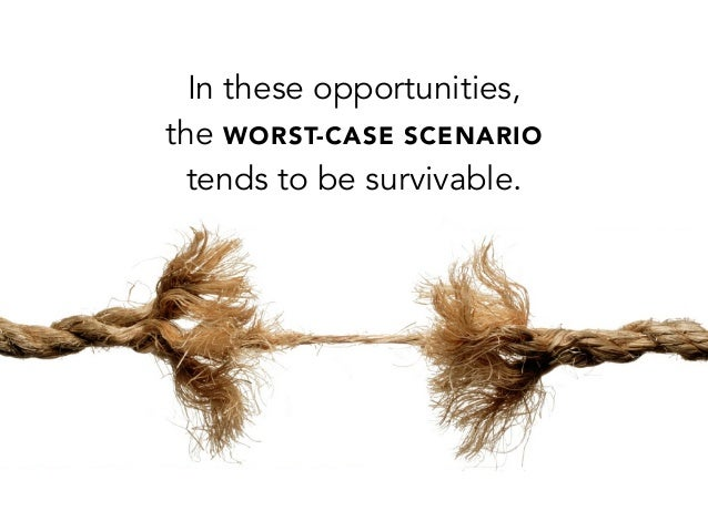 In these opportunities,the WORST-CASE SCENARIOtends to be survivable.