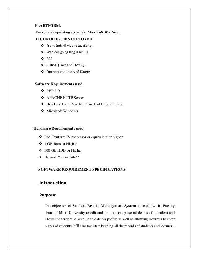 Students results management system (muni university)