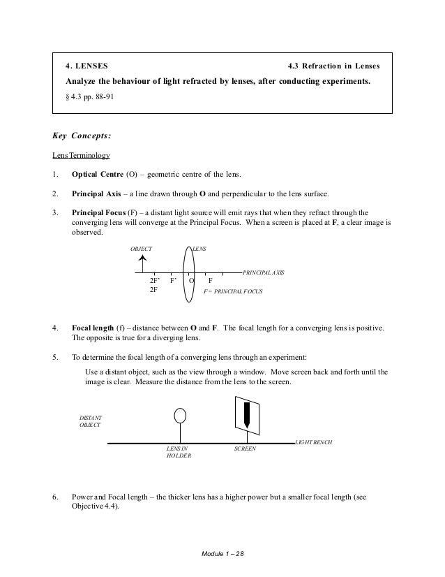 student study guide physics 534 rh slideshare net Physics Classroom Lenses Physics Classroom Lenses