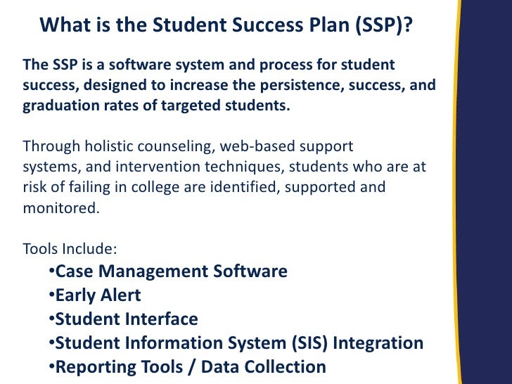 student success plan Career advising policy and student success plan now more than ever, students need to see a connection between what they are learning in.
