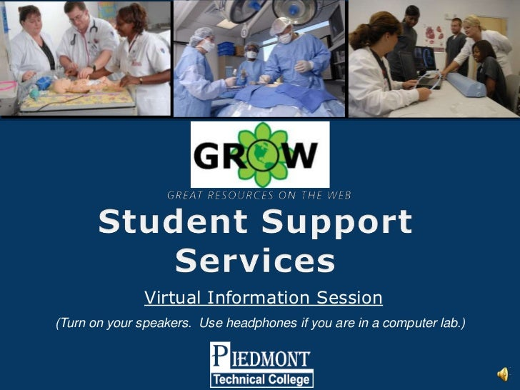 Virtual Information Session(Turn on your speakers. Use headphones if you are in a computer lab.)