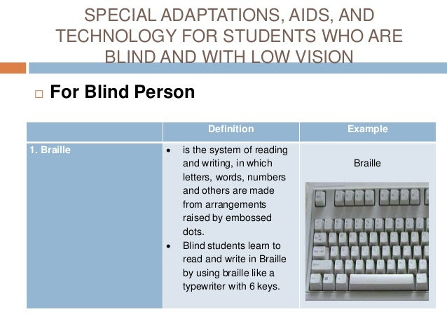 Students Who are Blind or Have Low Vision on examples of double vision, glaucoma vision, eye vision,