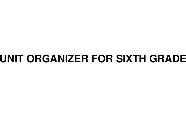 UNIT ORGANIZER FOR SIXTH GRADE