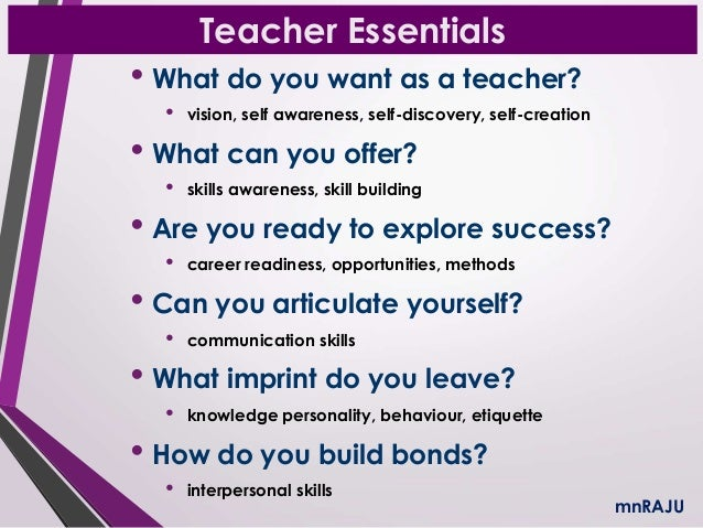 why to be a teacher