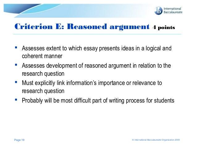 extended essay assessment criteria english 23112015 changes made to 2018 extended essay assessment all research questions must be posed as a research question enables students to.