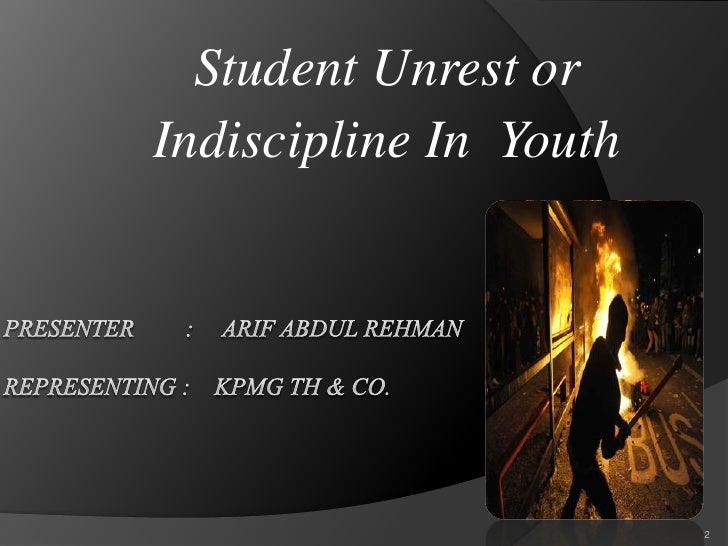 effects of youth indiscipline essay What causes violent crime   the concern with crime is well justified given its pernicious effects on  the national longitudinal survey of youth in the us.