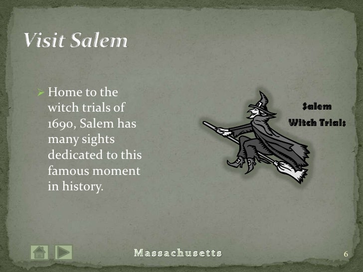 Home to the witch trials of 1690, Salem has many sights dedicated to this famous moment in history.<br />6<br />Visit Sale...
