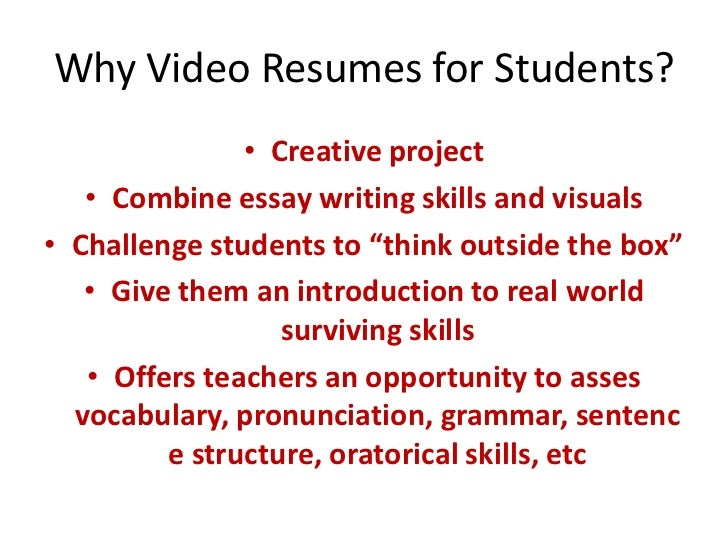 Video Resume Script Example 168297 Examples Of Resumes Example Cv