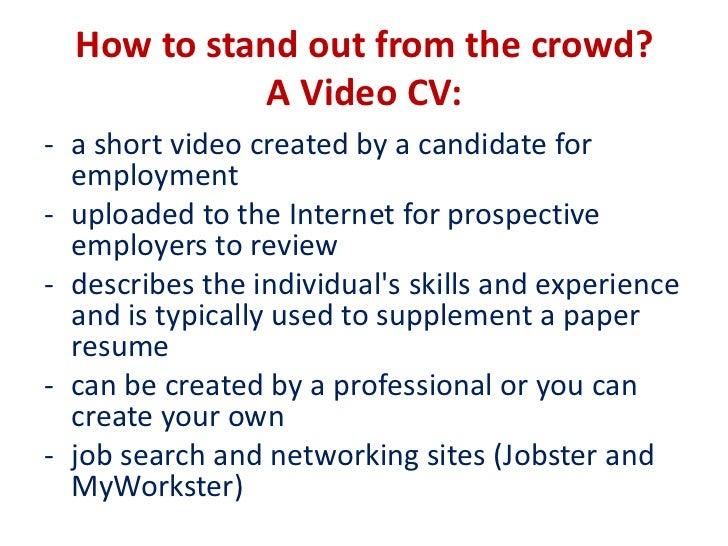 video resume example