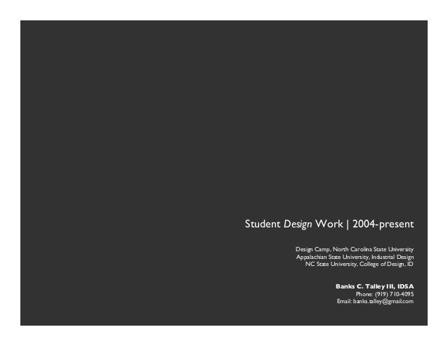 """                    Student Design Work 