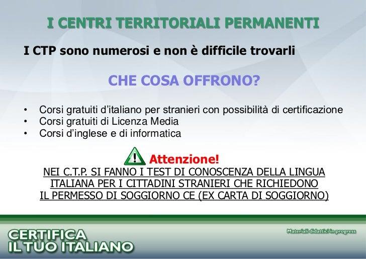 Beautiful Test Di Italiano Per Stranieri Carta Di Soggiorno Photos ...