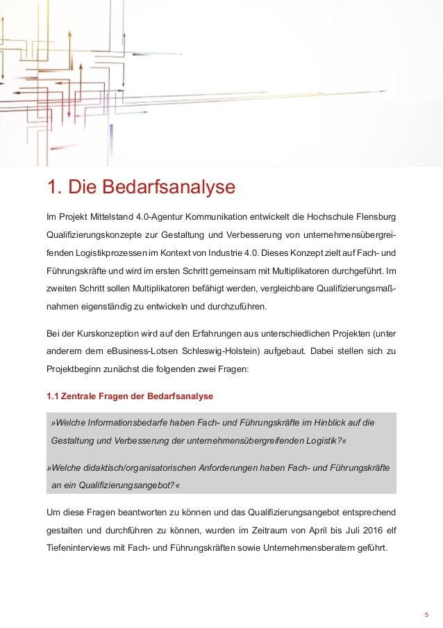 Bedarfsanalyse und unternehmensübergreifende Logistik