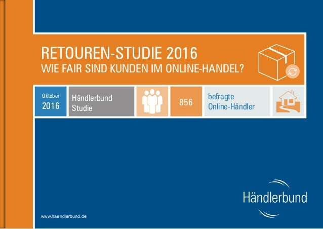 bcff15abd58 Retouren-Studie 2016 - Wie fair sind Kunden im Online-Handel?