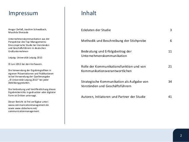 Unternehmenskommunikation aus der Perspektive des Top-Managements - Studie Juni  2013 Slide 2