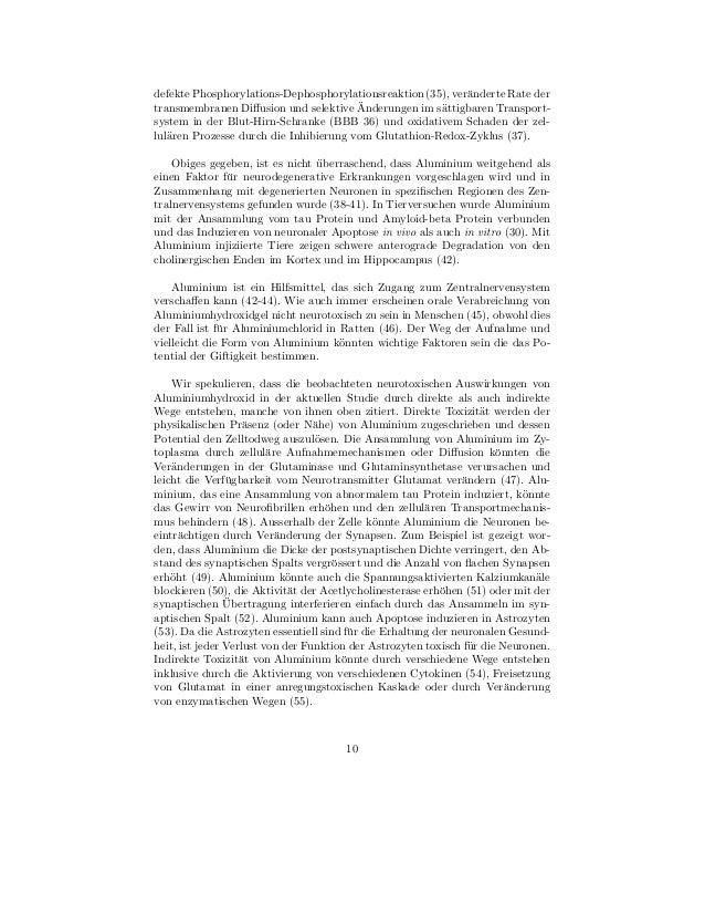 defekte Phosphorylations-Dephosphorylationsreaktion (35), ver¨nderte Rate der                                             ...