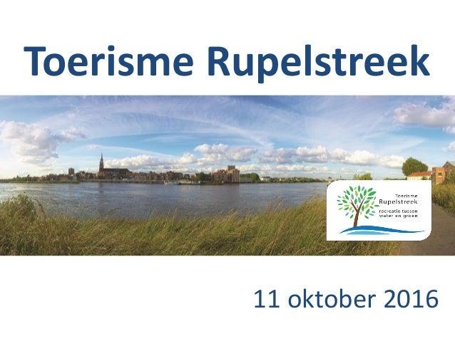 Toerisme Rupelstreek 11 oktober 2016
