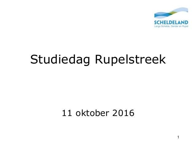 Studiedag Rupelstreek 11 oktober 2016 1