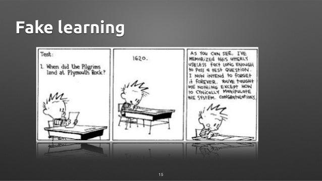 Fake learning 15