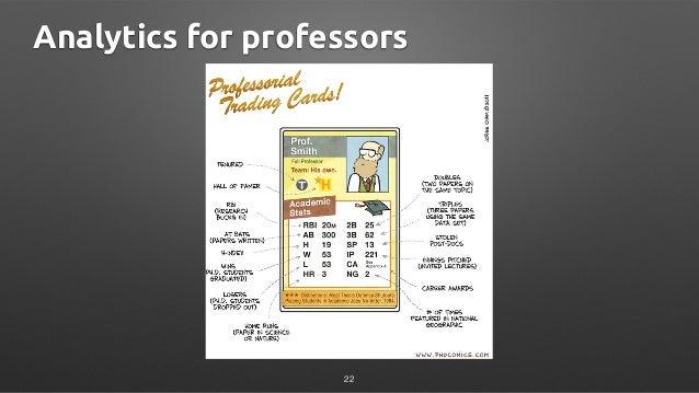Analytics for professors 22