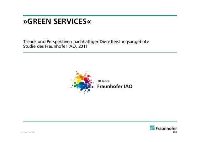 Green Services Trends Und Perspektiven Nachhaltiger Dienstleistungsa