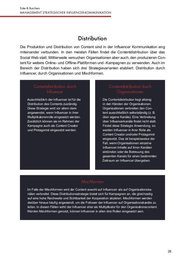 Management strategischer Influencer Kommunikation - Ergebnisbericht …