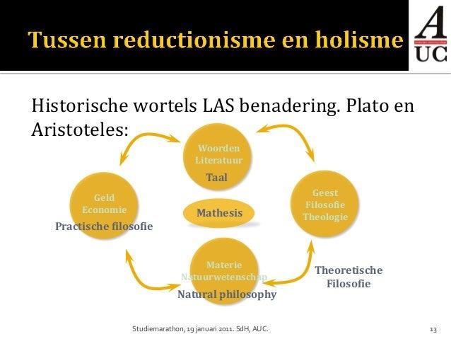 Historische wortels LAS benadering. Plato enAristoteles:                                     Woorden                      ...