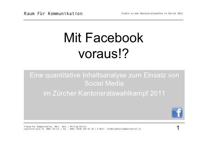Raum Für Kommunikation                                                            Studie zu den Kantonsratswahlen in Züric...