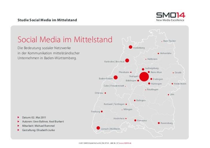 Studie Social Media im MittelstandSocial Media im Mittelstand                                                             ...