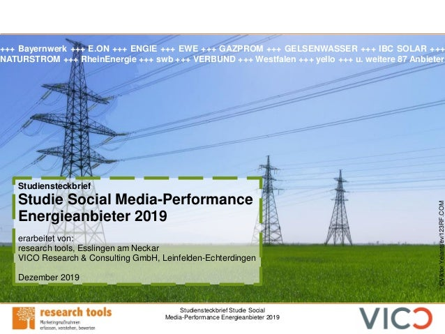 Studiensteckbrief Studie Social Media-Performance Energieanbieter 2019 Studiensteckbrief Studie Social Media-Performance E...
