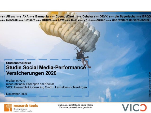 Studiensteckbrief Studie Social Media- Performance Versicherungen 2020 Studiensteckbrief Studie Social Media-Performance V...