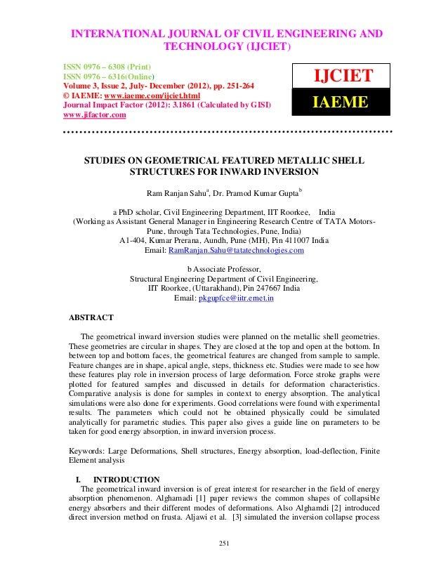 INTERNATIONAL JOURNAL OF CIVIL ENGINEERING AND International Journal of Civil Engineering and Technology (IJCIET), ISSN 09...