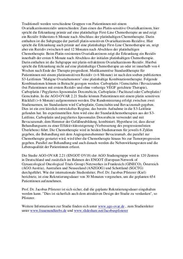 Studie unter der Leitung von Prof. Dr. Jacobus Pfisterer Slide 2
