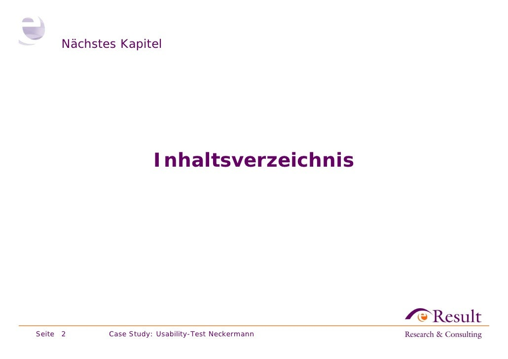 Fallstudie: Usability-Test im Labor (neckermann.de) Slide 2