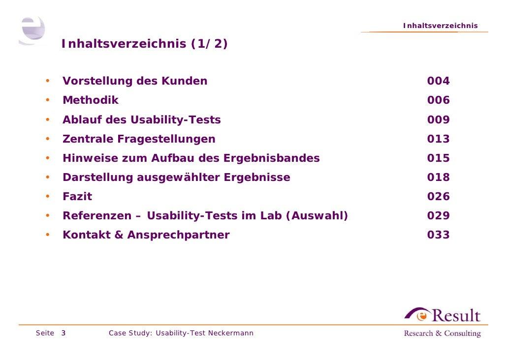 Fallstudie: Usability-Test im Labor (neckermann.de) Slide 3